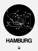 NAXART Studio - Hamburg Black Subway Map