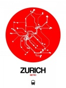 NAXART Studio - Zurich Red Subway Map