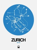NAXART Studio - Zurich Blue Subway Map