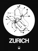 NAXART Studio - Zurich White Subway Map