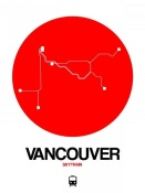 NAXART Studio - Vancouver Red Subway Map