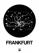 NAXART Studio - Frankfurt Black Subway Map