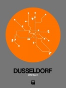 NAXART Studio - Dusseldorf Orange Subway Map