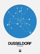 NAXART Studio - Dusseldorf Blue Subway Map