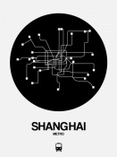 NAXART Studio - Shanghai Black Subway Map