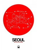 NAXART Studio - Seoul Red Subway Map