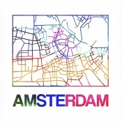 NAXART Studio - Amsterdam Watercolor Street Map