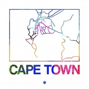 NAXART Studio - Cape Town Watercolor Street Map