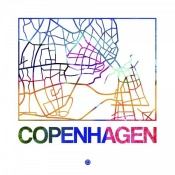 NAXART Studio - Copenhagen Watercolor Street Map