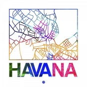NAXART Studio - Havana Watercolor Street Map