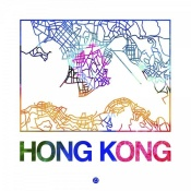 NAXART Studio - Hong Kong Watercolor Street Map