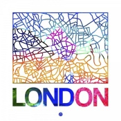 NAXART Studio - London Watercolor Street Map