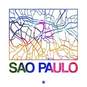 NAXART Studio - Sao Paulo Watercolor Street Map