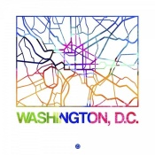 NAXART Studio - Washington D.C. Watercolor Street Map