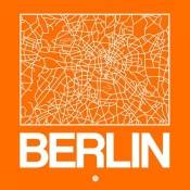 NAXART Studio - Orange Map of Berlin