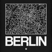 NAXART Studio - Black Map of Berlin
