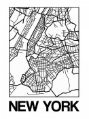 NAXART Studio - White Map of New York