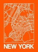 NAXART Studio - Orange Map of New York