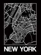 NAXART Studio - Black Map of New York