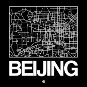 NAXART Studio - Black Map of Beijing