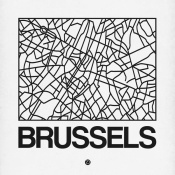 NAXART Studio - White Map of Brussels