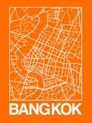 NAXART Studio - Orange Map of Bangkok
