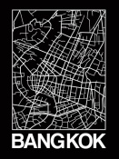 NAXART Studio - Black Map of Bangkok