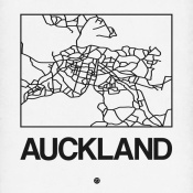 NAXART Studio - White Map of Auckland
