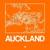NAXART Studio - Orange Map of Auckland