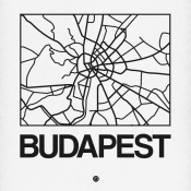 NAXART Studio - White Map of Budapest