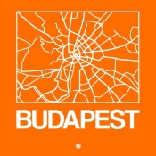 NAXART Studio - Orange Map of Budapest