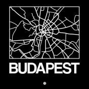 NAXART Studio - Black Map of Budapest