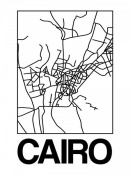 NAXART Studio - White Map of Cairo