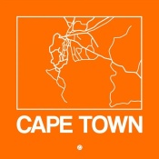 NAXART Studio - Orange Map of Cape Town