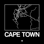 NAXART Studio - Black Map of Cape Town