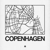 NAXART Studio - White Map of Copenhagen