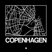 NAXART Studio - Black Map of Copenhagen
