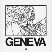 NAXART Studio - White Map of Geneva