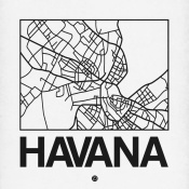 NAXART Studio - White Map of Havana