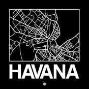 NAXART Studio - Black Map of Havana