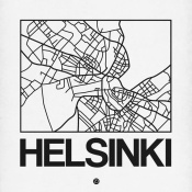 NAXART Studio - White Map of Helsinki