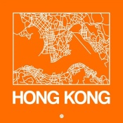 NAXART Studio - Orange Map of Hong Kong