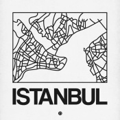 NAXART Studio - White Map of Istanbul