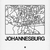 NAXART Studio - White Map of Johannesburg