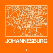 NAXART Studio - Orange Map of Johannesburg