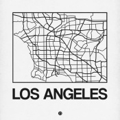 NAXART Studio - White Map of Los Angeles