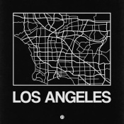NAXART Studio - Black Map of Los Angeles