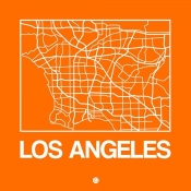 NAXART Studio - Orange Map of Los Angeles