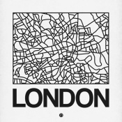 NAXART Studio - White Map of London