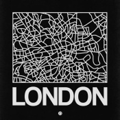 NAXART Studio - Black Map of London